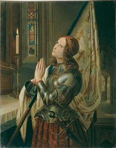 Jeanne d'Arc priant