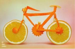 vélo en Orange
