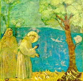 Saint François d'Assise - les oiseaux