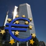 The Euro logo is seen in front of the European Central Bank (ECB) building in Frankfurt am Main, central Germany, on September 5, 2013. The European Central Bank (ECB) on September 5, 2013 held its key rates unchanged as expected at its regular monthly policy meeting. AFP PHOTO / DANIEL ROLAND